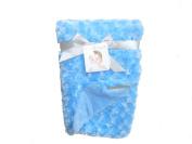 Blanket & Beyond Rosette Soft Swirl Baby Blanket
