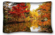Custom Cotton & Polyester Soft Nature DIY Pillow Cover Size 50cm x 80cm suitable for Twin-bed