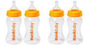 Thinkbaby Twin Pack 270ml Baby Bottles with Stage A Nipples Bundle - 2 Items