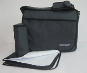 Designer Baby Nappy Bag, Changing Pad, 10 Organiser Pockets, Insulated Pocket