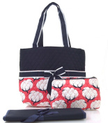 NGIL Coral Cotton Field Print Quilted Nappy Bag