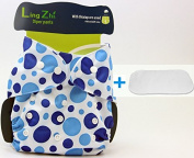 LINGZHI Reusable Adjustable Baby Cloth Nappies Cover Infant Nappies Inserts