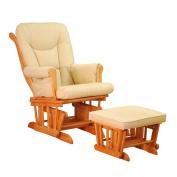 Sleigh Glider Chair - Pecan