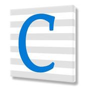 "Stretched Canvas Print Blue Letter ""C"" Monogram Letters Nursery Wall Art VWAQ-159C"