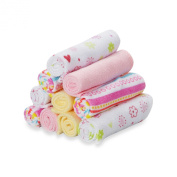Spasilk 10-Pack Washcloth Set in Pink Lines
