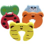 GroovyApple® 5 PCS Cushion Children Safety Finger Pinch Cartoon Animal Foam Door Stopper