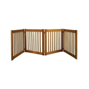 Dynamic Accents Four Panel Small Indoor Wooden EZ Pet Gate, 70cm Tall - Artisan Bronze