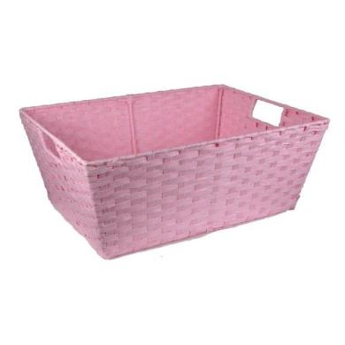 Paper Fibre Storage Basket - Pink