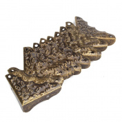 Vintage Antique Decorative Corner Protectors Guards Desk Edge Cover Bronze Pack Of 20