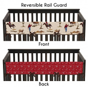 Wild West Cowboy Western Long Front Rail Guard Baby Boy Teething Cover Protector Crib Wrap