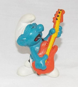 1977 Vintage Smurf Rock N Roll With Guitar PVC Figure