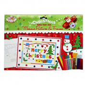 "Christmas Scene ""Make Your Own Mosaic Picture and Frame"" - 2 Pictures to Make, with Mosaic and Other Stickers"