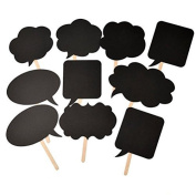 Christmas DIY Wedding Party Black Photo Booth Props Prom Shower Decor 10pcs