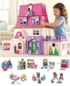 NEW!! Loving Family Dollhouse Super Set ***6 Rooms of Furniture + Everything For Baby Included***