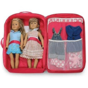 Dolls & Dollhouses Badger Basket Double Doll Travel Case with Bunk Bed and Bedding, Dark Pink, Fits Most 46cm Dolls & My Life As