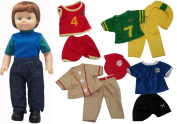 Get Ready Kids Boy Doll with Sports Clothes Set