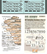 Echelon Fine Decal 1:35 US Army OIF Battalion Numbers Part 2 #D356031
