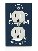 Keep Calm and Snorlax Art Electrical Outlet Plate