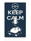 Keep Calm and Snorlax Art Light Switch Plate