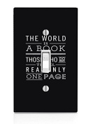 The World Is A Book Art Light Switch Plate