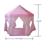 GreEco Princess Castle PLay Tent, Fairy Princess Castle Tent,Newest Design, Extra Large Room, Pink