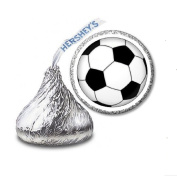 216 Soccer Labels/Stickers for Hershey's Kisses Candies - Party Favours