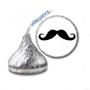 216 Moustache Moustache Labels/Stickers for Hershey's Kisses Candies - Party Favours