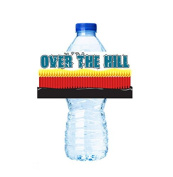 CakeSupplyShop Item#45357- 24pack Over the hill Party Decorations Water Bottle Stickers Labels