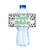 CakeSupplyShop Item#45360- 24pack Soccer Party Decorations Water Bottle Stickers Labels