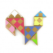 2 pcs Puzzle Game 07101 Tangram Sequential Puzzles Toys Jouets