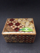 Japanese Samurai Handmade Wooden Yosegi Magic Secret Trick Puzzle Box 5 Steps HK-102