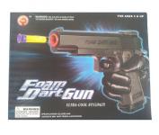 Foam Dart Gun Detective Pistol with 6 Foam Darts, FBI, Police Pistol Toy Ultra Cool Styling