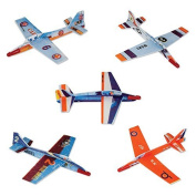 (48) 18cm Assorted Fighter Gliders