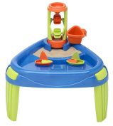 American Plastic Toy Water Wheel Play Table, Sand Box Outdoor Toddler Baby