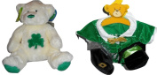 Build-a-bear Teddy O'Shamrok 36cm 2004 Teddy Bear Plus Leprechaun Clothing & Accessories Set Limited Edition