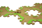 Tobo Track 22. Educational Toy Car and Wooden Train Track - CONNECTS DIRECTLY to Thomas, Brio, LEGO and other Best Selling Sets - Toddler Safe Eco Friendly Wood - Made in USA.