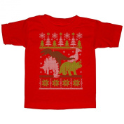 Lost Gods Dinosaur Christmas Sweater Toddler Graphic T Shirt - Lost Gods