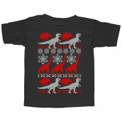 Lost Gods Dinosaur Ugly Christmas Sweater Print Toddler T Shirt - Lost Gods