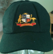 AUSTRALIA CLASSICAL TRADITIONAL MELTON CRICKET CAP BAGGY STYLE 58-61CM GREEN