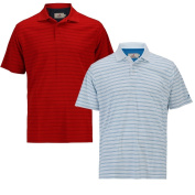 Woodworm Tour Stripe Golf Polos Shirts - 2 Pack