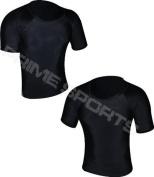 Prime Rash Guard Vest MMA Running Grappling UFC Top T Shirt Mens Boxing Black Half Sleeve Large