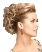 New Style Hair Extensions Curly Or Messy Drawstring Updo Full Bun Add Body Strawberry Blonde Mix
