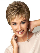 Beauty Smooth Hair Western Women Golden Blonde Short Wig Straight Hair Party Wigs ST28