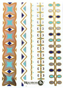 Beautiful Glow in the Dark Metallic Temporary Tattoos (Various Designs) by ReignBeau B