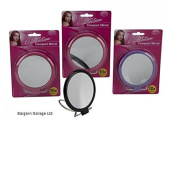2 SIDED 10X MAGNIFYING 10cm COMPACT MIRROR ON STAND