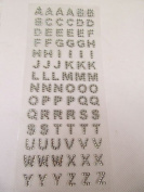 Ardisle ALPHABET SELF ADHESIVE STICK ON DIAMONTE CLEAR GEM CRYSTAL RHINESTONE DIAMANTE