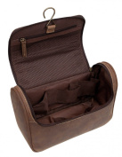 "Toiletry Bag ""PRAGUE"" | Made Of Buffalo Leather | Beauty Case Wash Bag Vanity Bag"