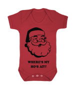 Where's My Ho's Funny Babygrow (black on red)