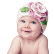 Feng Cute Big Flower Baby Kids Infant Toddler Girl Warm Beanie Knit Hat Cap