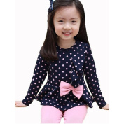 Arrowhunt Baby Girls Polka Dot Tops Stretch Pants 2pcs Sets Outfits